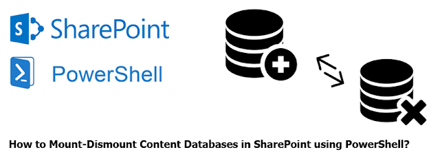 Mount Dismount Content Databases in SharePoint using PowerShell