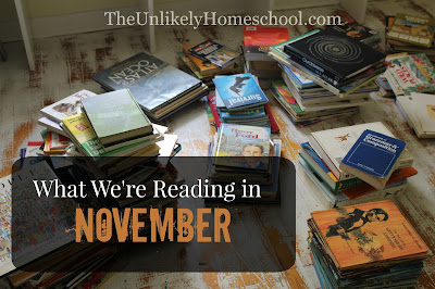 What We're Reading in November-lots of great book suggestions for Christian Homeschool families