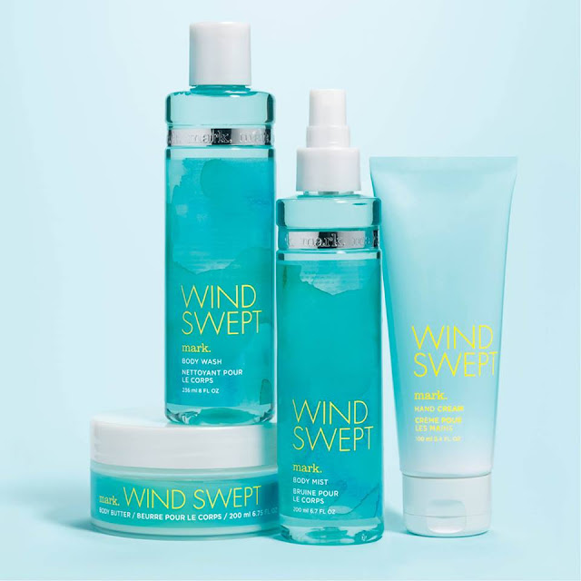 Avon mark. Windswept Bath and Body