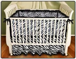 Sin in Linen Zebra Stripe Baby Bumper