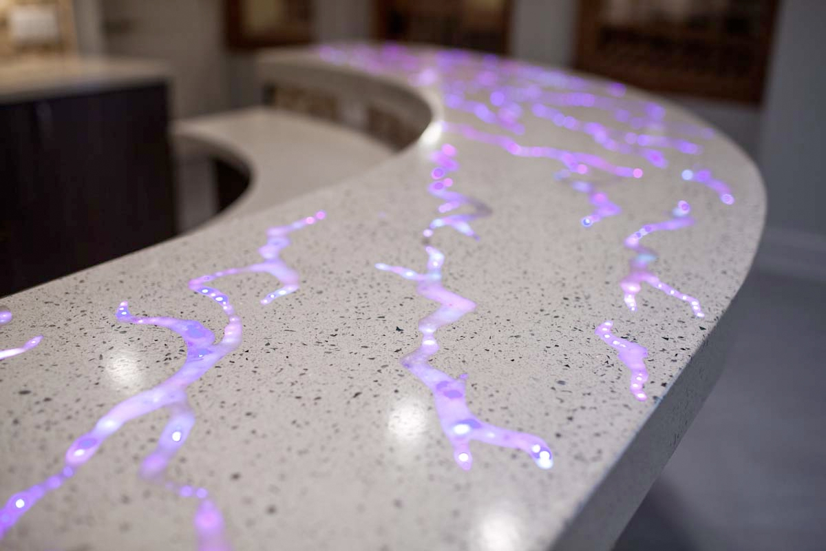 Fiber Optic Countertop Concrete Design And Fabrication Group Features Gfrc