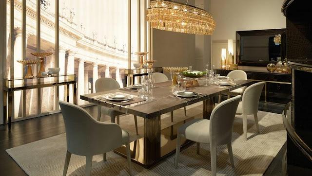 صور ديكورات موائد الطعام واشكال تزيين طاولات وكراسي غرف السفرة للمنازل