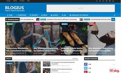 Blogius Magazine Blogger Template