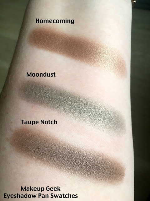 Makeup Geek Eye Shadow swatches