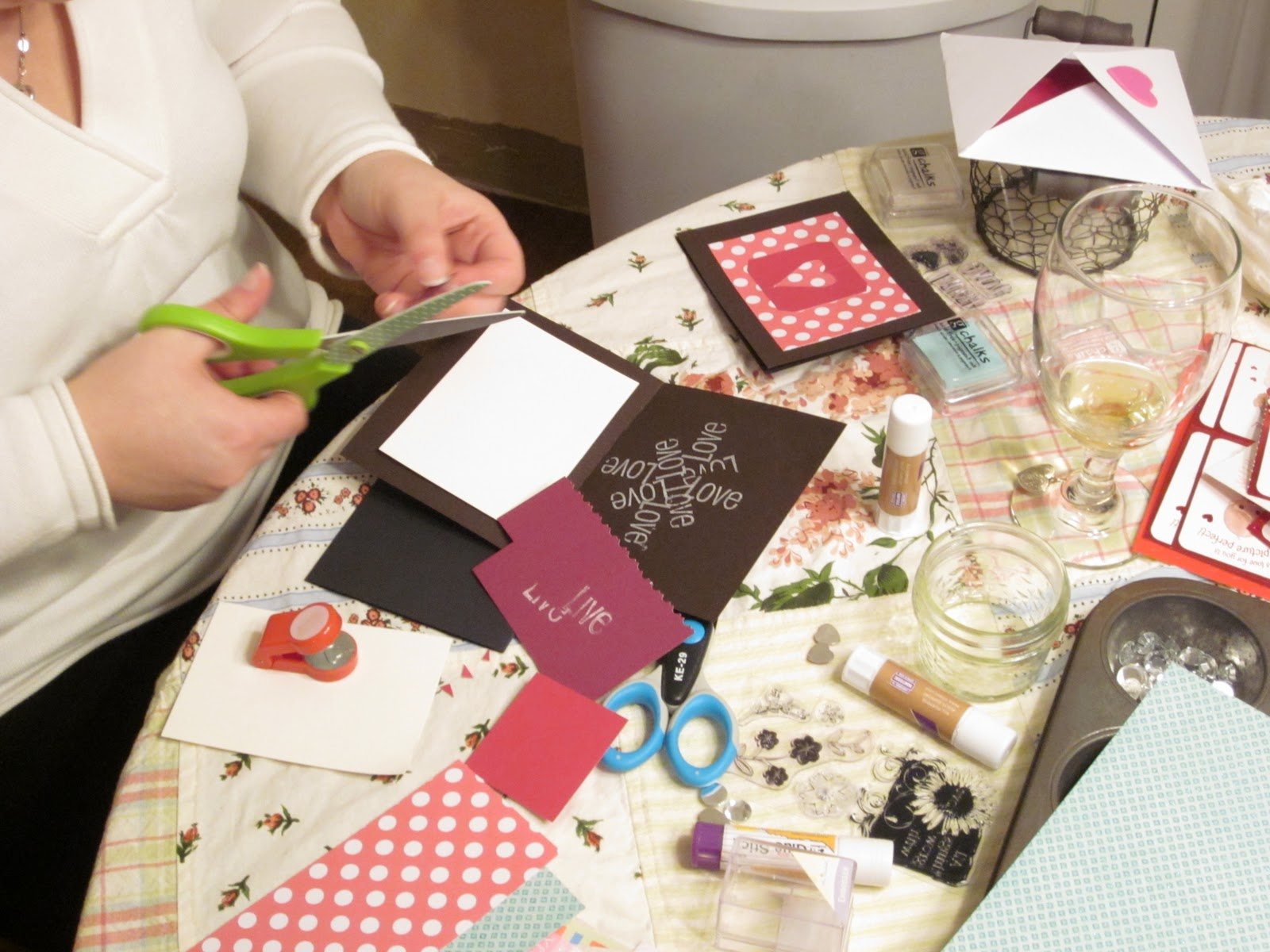perhaps today valentine card making party
