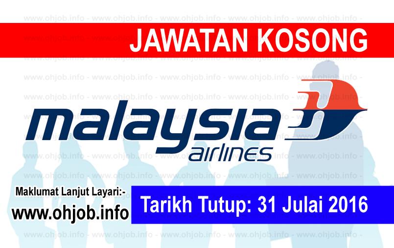 Jawatan Kerja Kosong Malaysia Airlines Berhad logo www.ohjob.info julai 2016