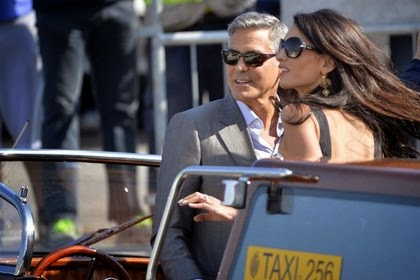 George Clooney married lawyer Amal Alamuddin in Venice