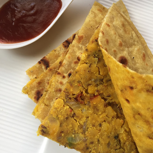 Chana-dal-Paratha-Recipe-Served