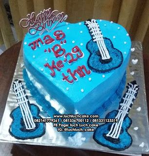 Birthday Cake Guitar Buttercream