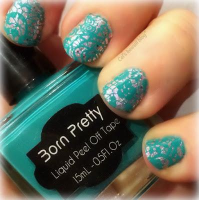 Nail stamping lace