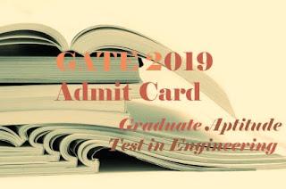 GATE 2019 Admit Card Download, GATE 2019 Hall ticket download