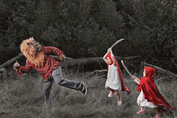 An Awesome Dad Shoots Creative Photographs of His Daughters