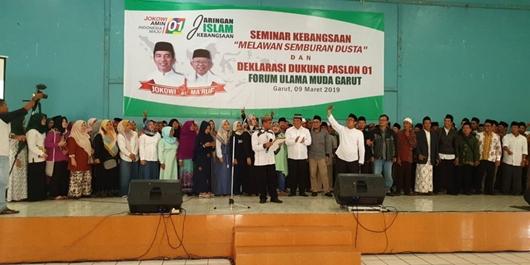 Ratusan Ulama Muda Garut Deklarasi dan Dukung Jokowi-KH. Ma'ruf Amin