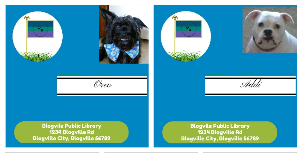 Me and Addi's Library Cards