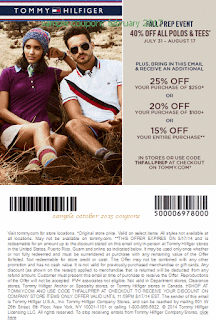Tommy Hilfiger coupons february