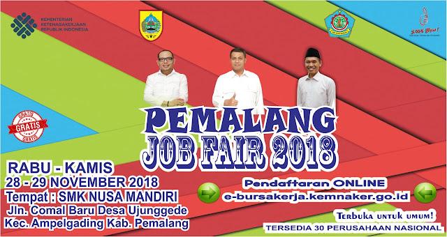 Job Fair Kabupaten Pemalang Gratis
