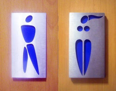 Señalética divertida - letreros para el baño.