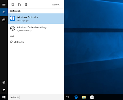 Cara Menyalakan dan Mematikan Windows Defender di Windows 10 Creator Update