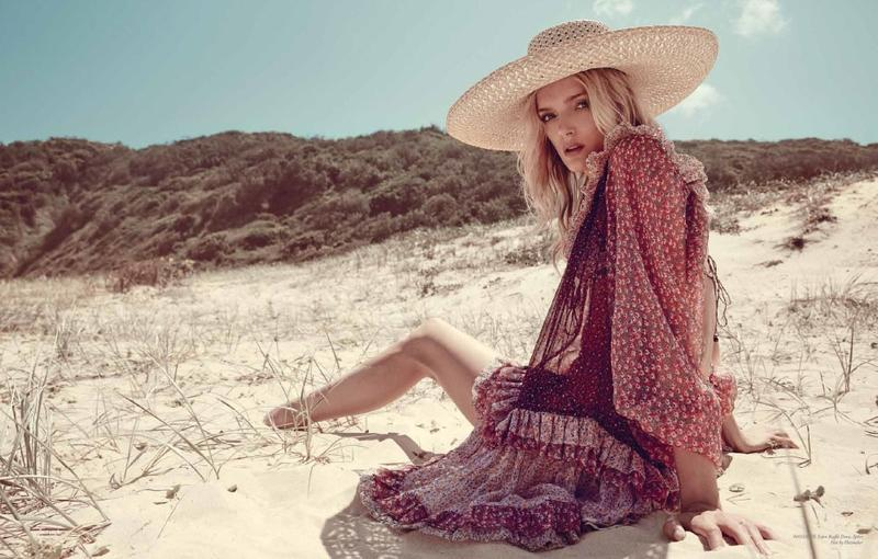 Lily Donaldson by Darren Mcdonald for Zimmermann S/S 16 Swim Campaign