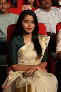 Actress Anupama Parameshwaran Pictures in Saree at A Aa Music Launch  0077.JPG