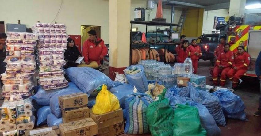 Estudiantes de Ilave - Puno envían ayuda para afectados y damnificados del norte