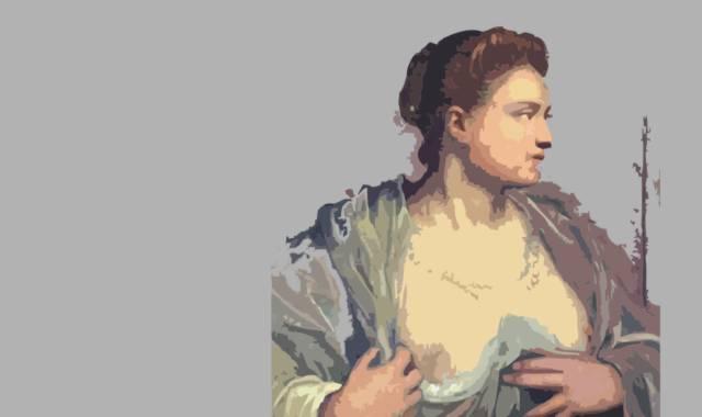 barbusige Frau-Busen-Brust