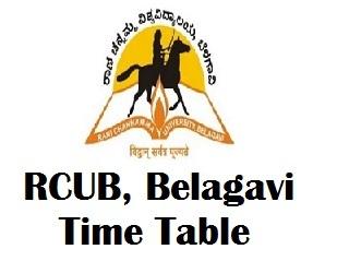Rani Channamma University Belagavi Exam Time Table 2017