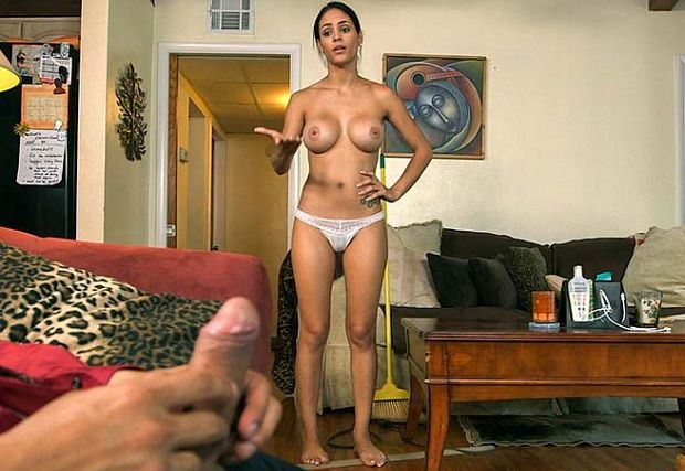 Jasmine Caro - Latina Gets Fucked While Cleans