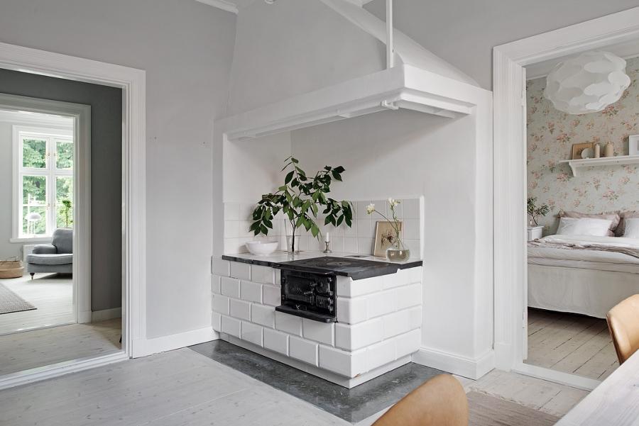 Skandynawsko - francuski apartament, wystrój wnętrz, wnętrza, urządzanie mieszkania, dom, home decor, dekoracje, aranżacje, styl francuski, styl skandynawski, scandi, French style, Scandinavian style, jasne wnętrza, bright interiors, gabinet, office