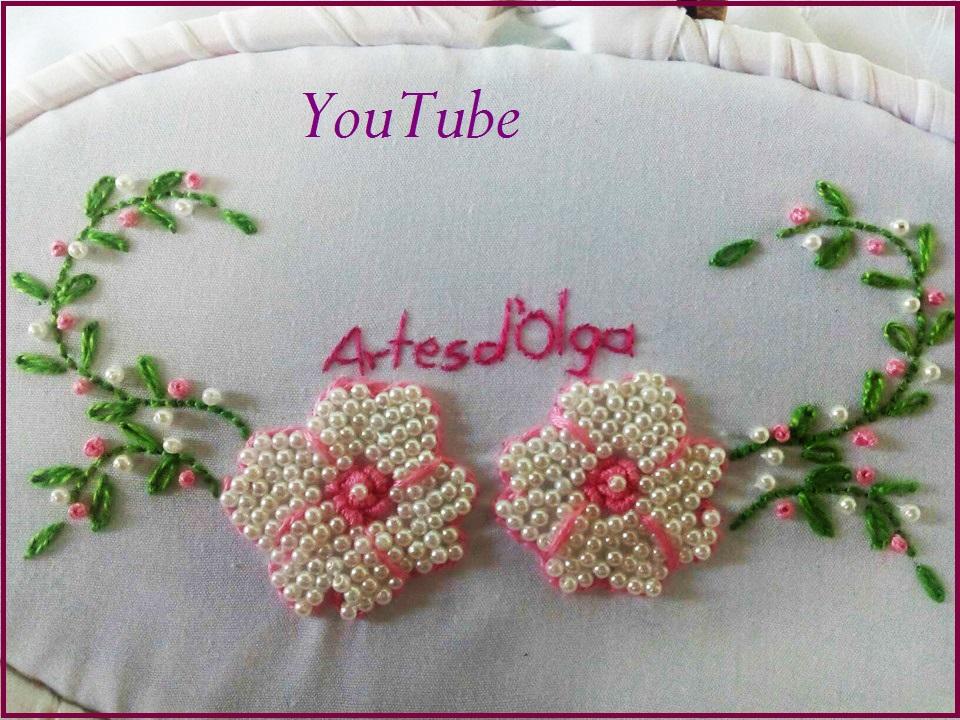 Artesd\'Olga: Flores Bordadas Con Perlas   DIY Bead Embroidery: Pearl ...