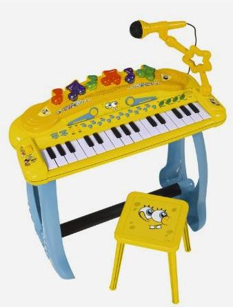 Teclado Musical Bob Esponja con silla