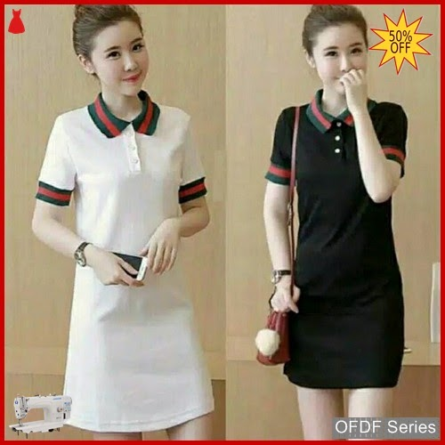 OFDF262 Dress Casual Dress Lucci Kancing Depan BMGShop