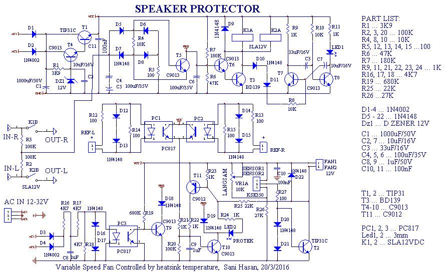 stereo speaker protection