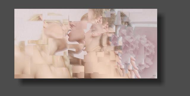 imágenes fotos creativas lesbicas cubismo erótico de cuerpos desnudos de mujer,  lesbianas,
