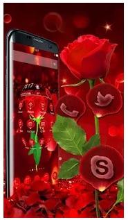3D valentine love rose