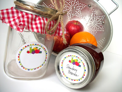 fruit canning jar label
