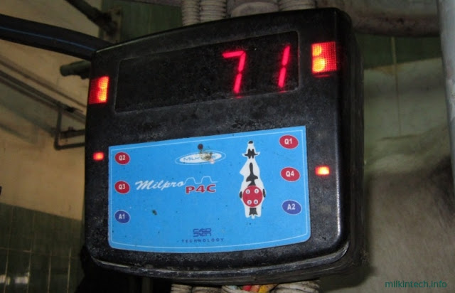 при отключении доения доли загорается индикатор