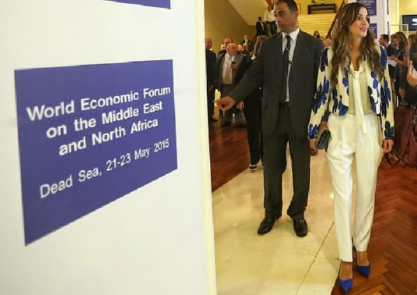 Queen Rania Attends The Opening Of The World Economic Forum