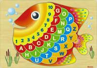 Mainan Puzzle Alphabet Ikan