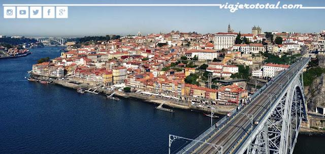 Río Duero y Puente Don Luis I, Oporto, Portugal