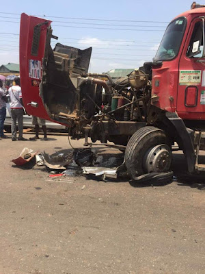 Driver Dies In Fatal Accident In Lagos After Sacrificing Himself To Save His Passengers