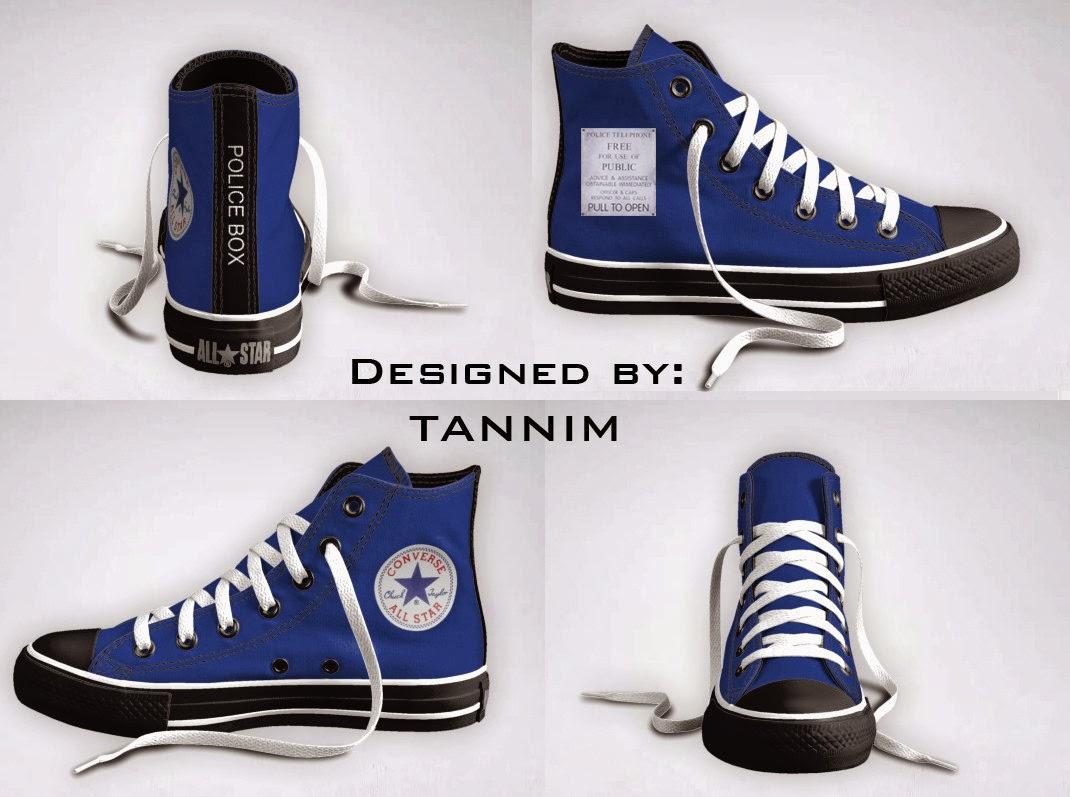 Tardis Converse Shoes