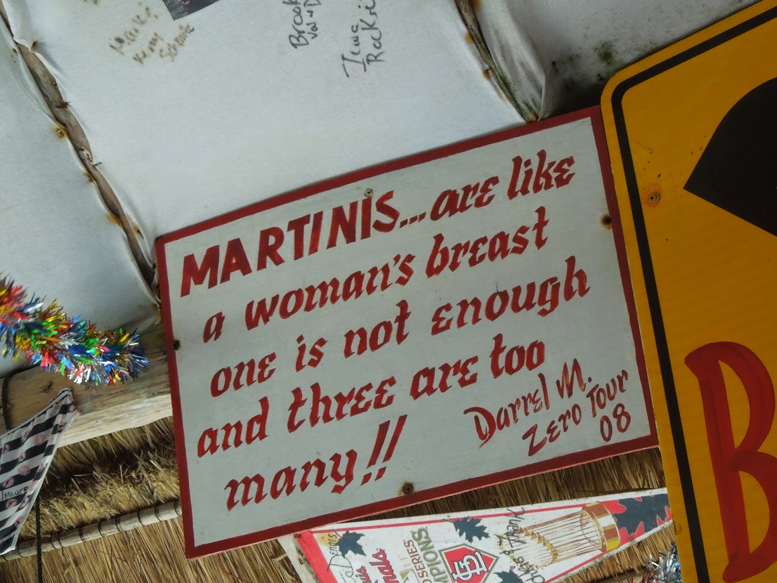 martini sign at Coconuts