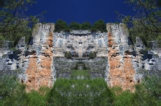 simetría, fotografía, sim-etrica, buitreras, paredes de roca, escarpadas,naturaleza,