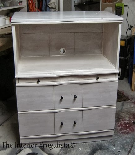Vintage Dresser to Faux Secretary Makeover