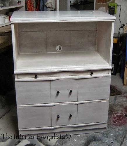 Vintage Dresser to Faux Secretary Makeover