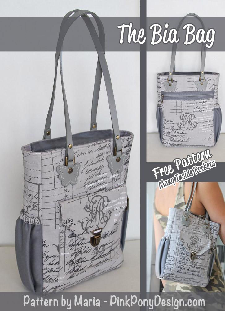 Pink Pony Design The Bia Bag Free PDF Pattern Best Free Bag Patterns To Download Pdf