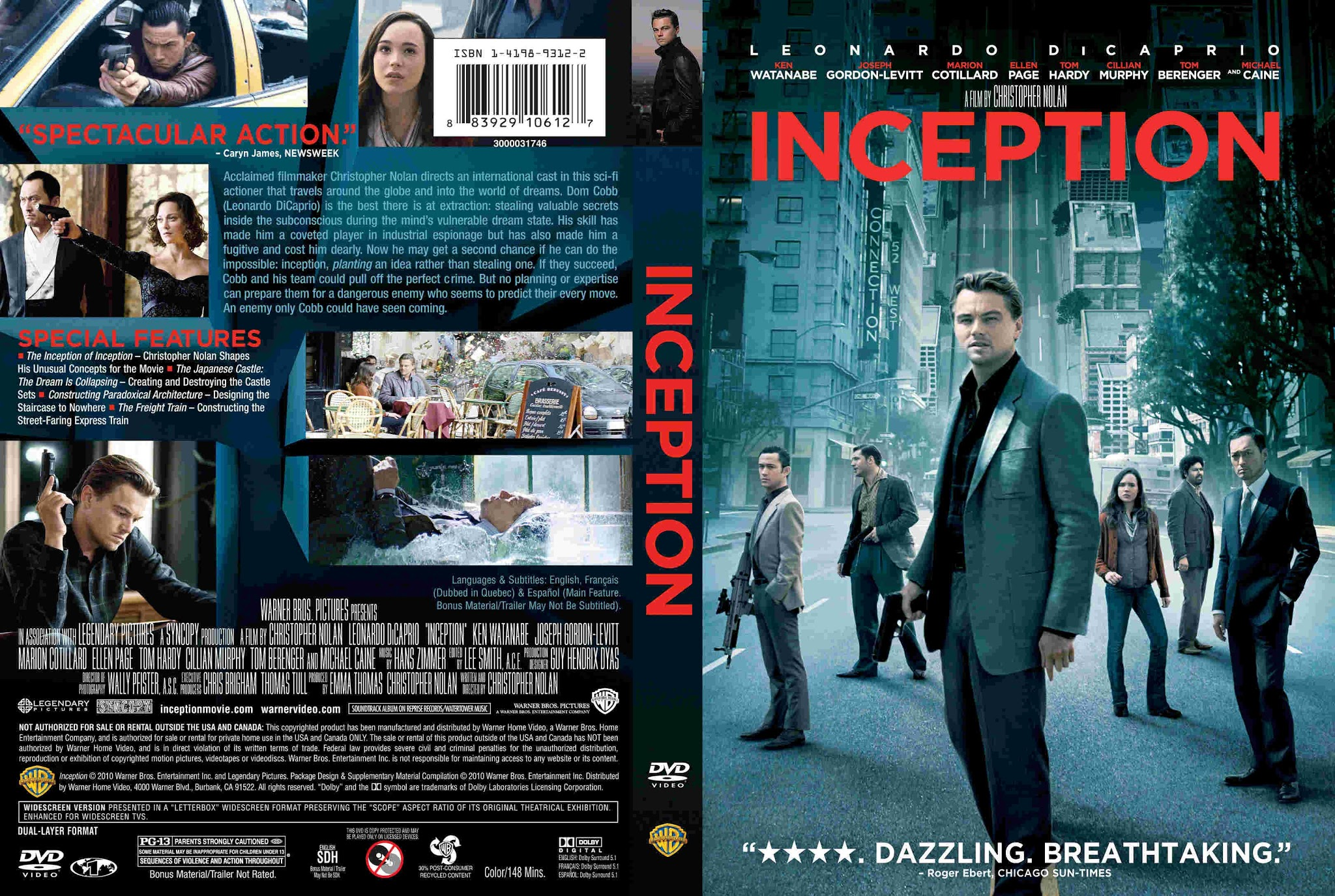 Inception DVD Cover   Cover Addict - Free DVD, Bluray