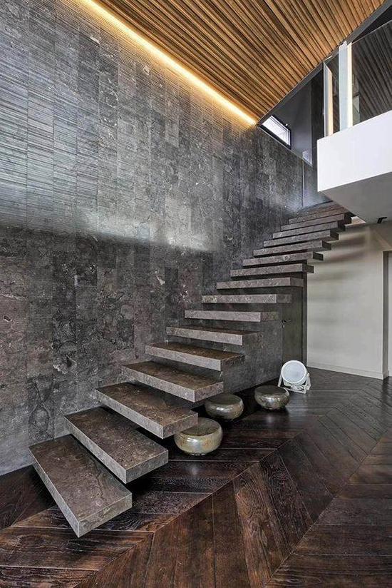 8 model desain inspiratif tangga dari concrete beton