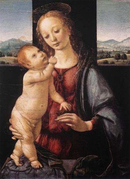 Madonna e Criança com uma Romã - Leonardo Da Vinci | O maior artista de todos os tempos